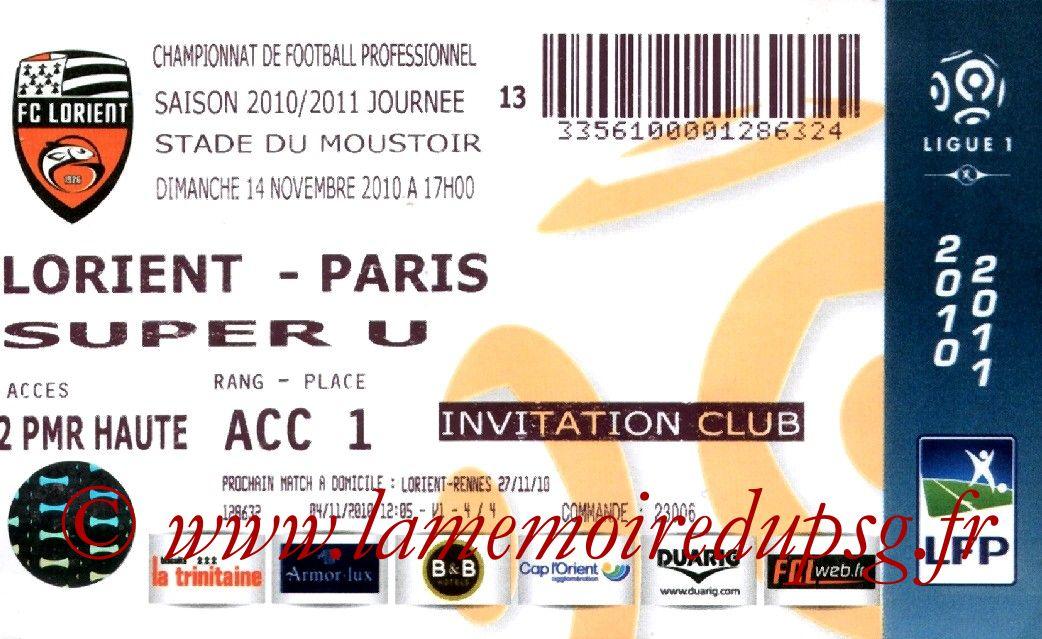 2010-11-14  Lorient-PSG (13ème L1)