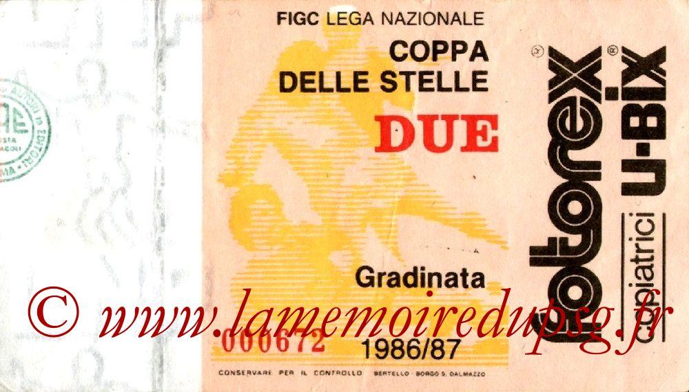 1987-06-23  PSG-Milan AC (2ème journée Coupe des Etoiles à Milan)