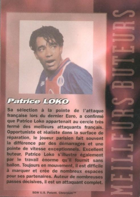 N° B11 - Patrice LOKO (Verso)