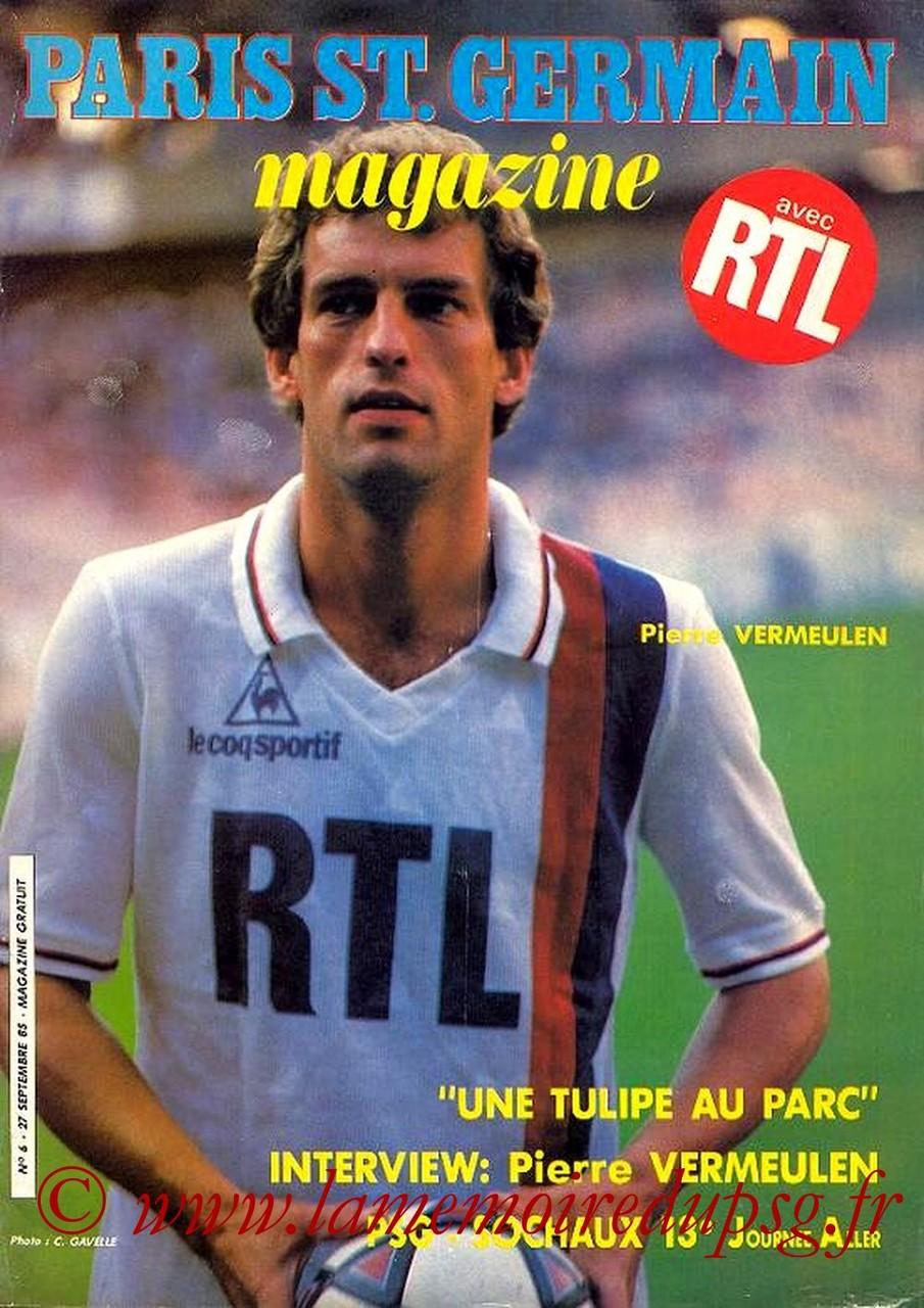 1985-09-27  PSG-Sochaux (13ème D1, Paris St Germain Magazine N°6)