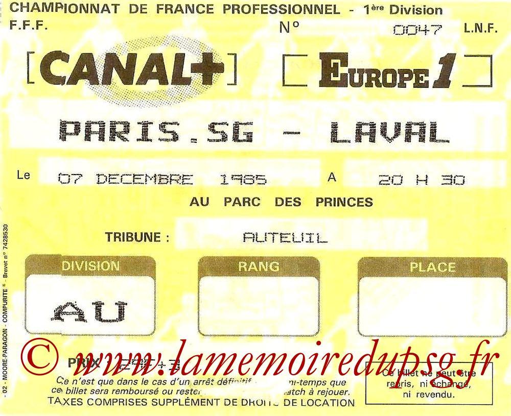 1985-12-07  PSG-Laval (23ème D1)