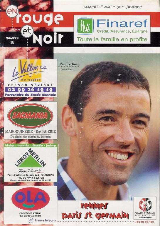 1999-05-01  Rennes-PSG (31ème D1, En Rouge et Noir N°16)