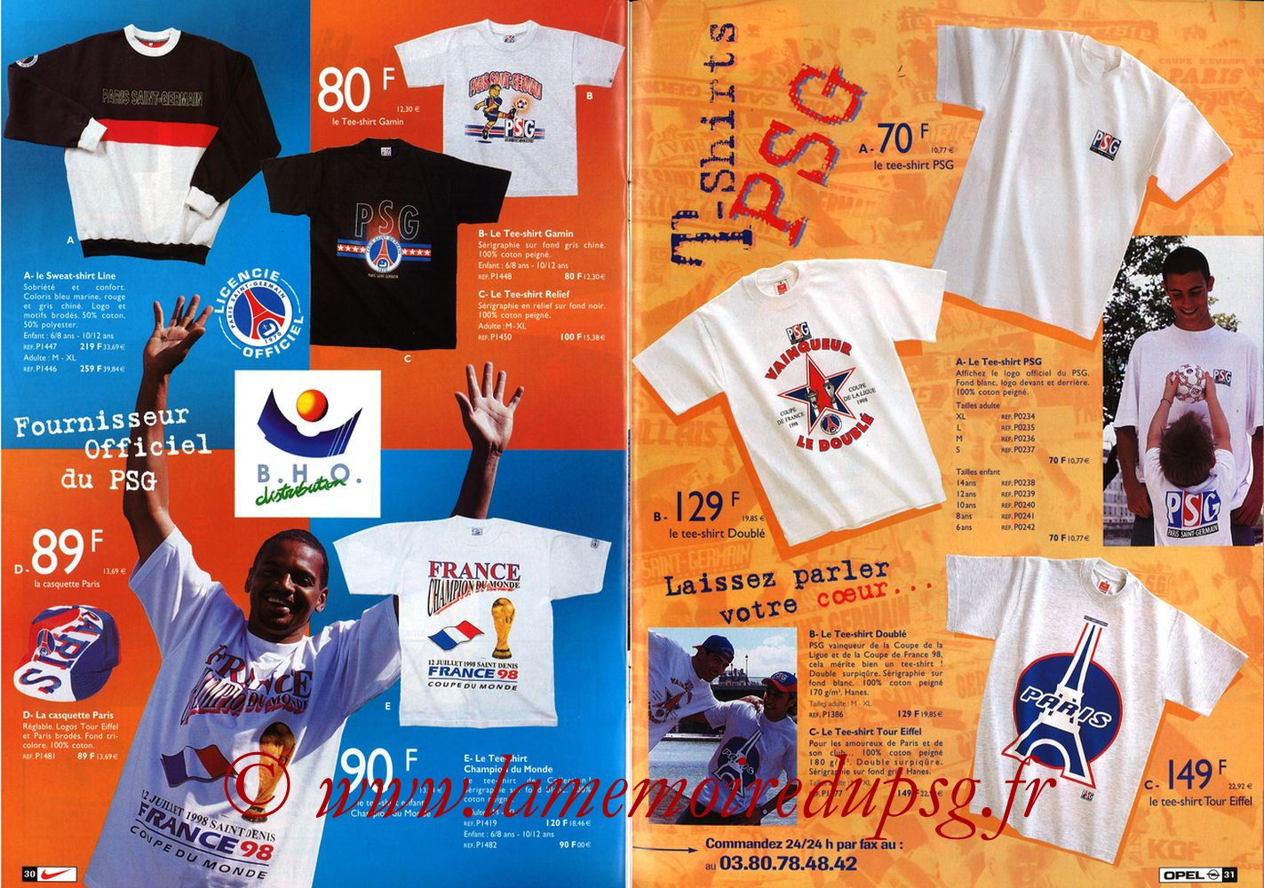 Catalogue PSG - 1998-99 - Pages 30 et 31