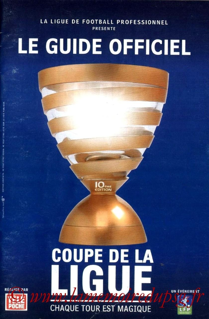 2003-10-28  Gueugnon-PSG (16ème CL, Programme officiel LFP)