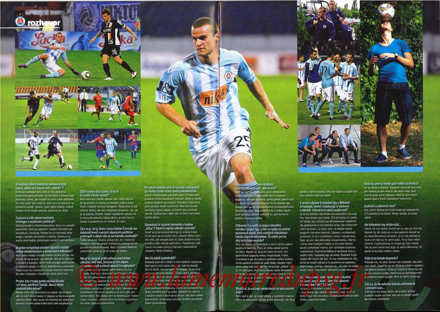 2011-10-20  Slovan Bratislava-PSG (3ème C3, Slovan N°4) - Pages 10 et 11