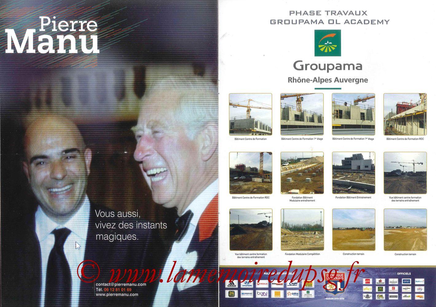 2016-02-28  Lyon-PSG (28ème L1, Esprit Club N°361) - Pages 06 et 07