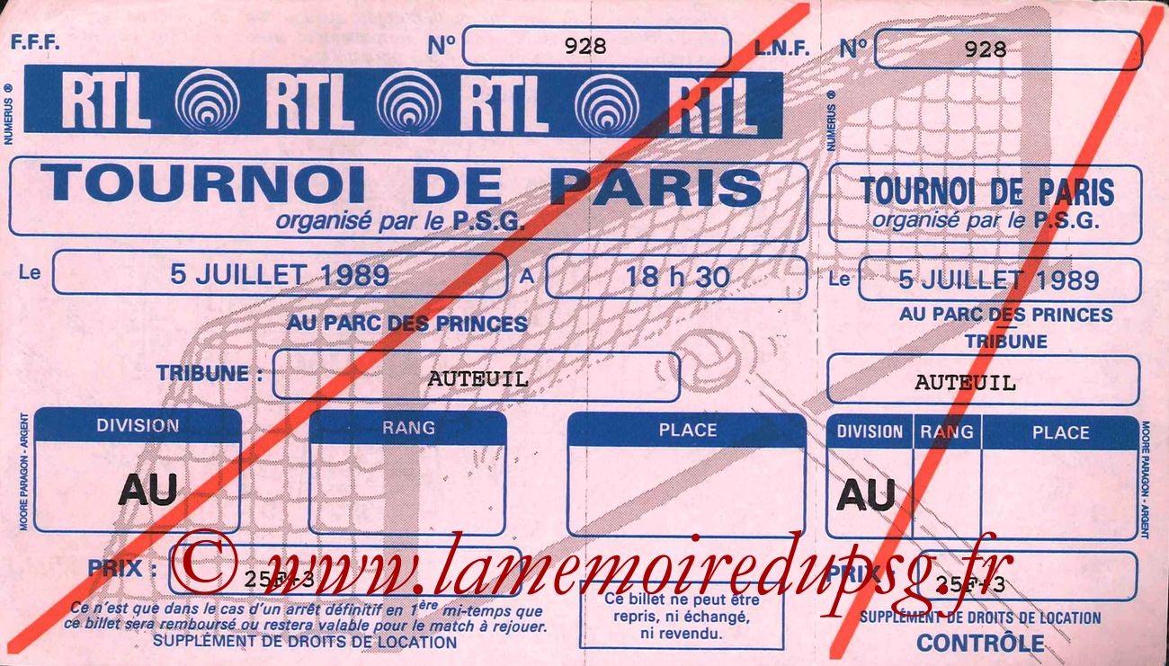1989-07-05  PSG-Vasco de Gama (Demi Finale Tournoi de Paris, Entier)