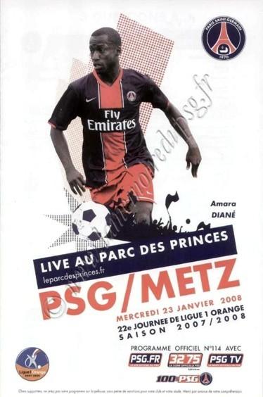2008-01-23  PSG-Metz (22ème L1, Officiel N°114)