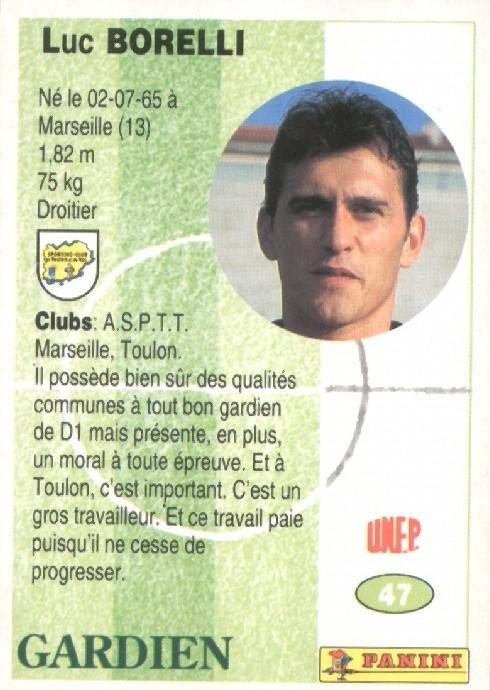 N° 047 - Luc BORELLI (Recto)