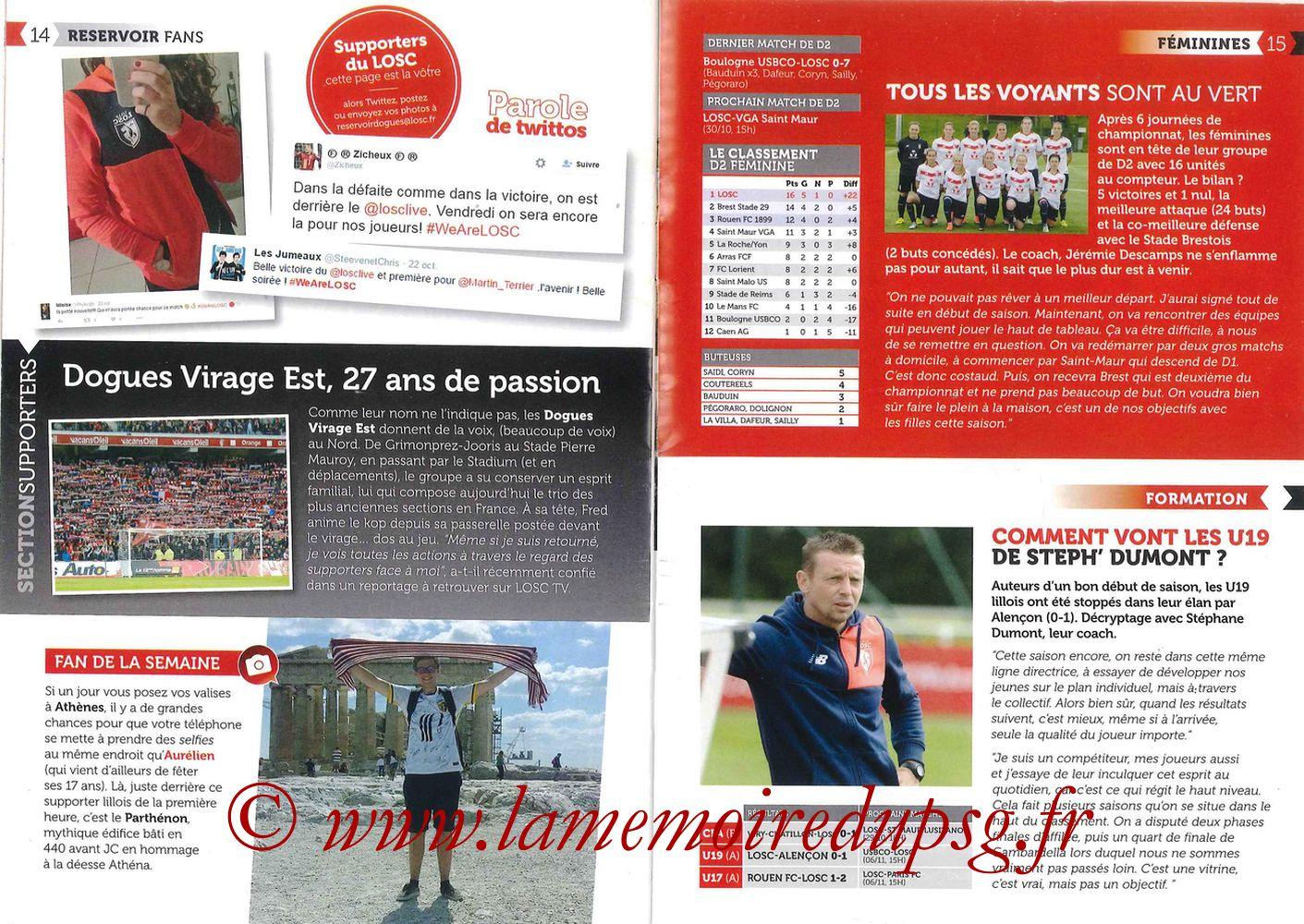 2016-10-28  Lille-PSG (11ème L1, Réservoir Dogues N°57) - Pages 14 et 15
