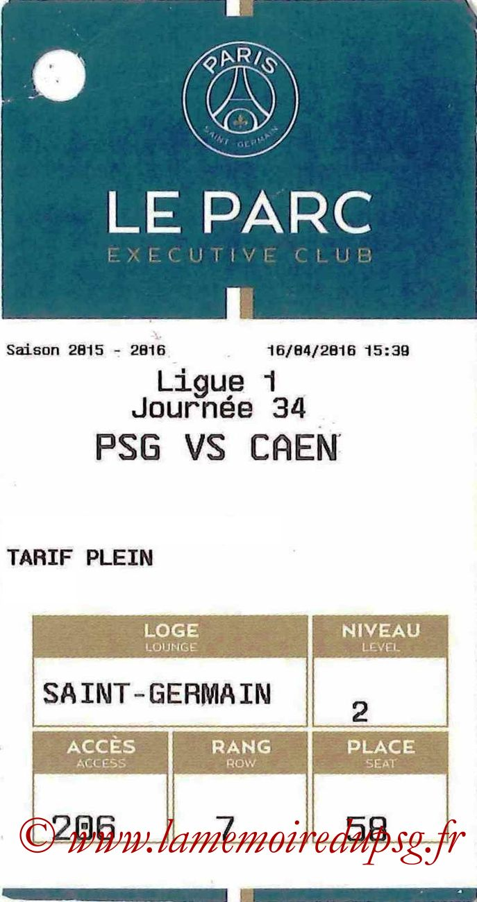2016-04-16  PSG-Caen (34ème L1, E-ticket Executive club)