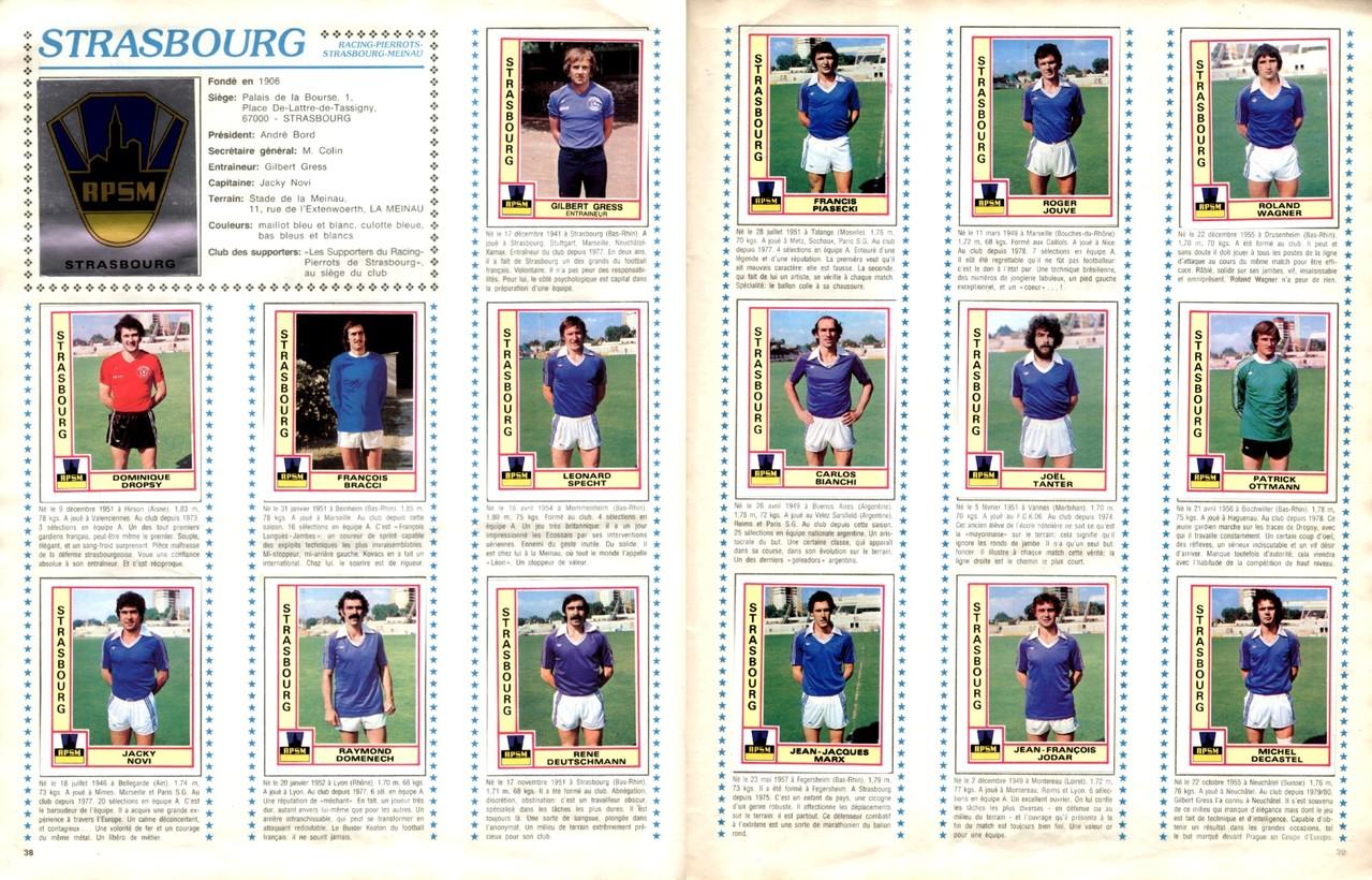 1979-80 - Panini 1980 - Pages 38 et 39 - RP Strasbourg-Meinau