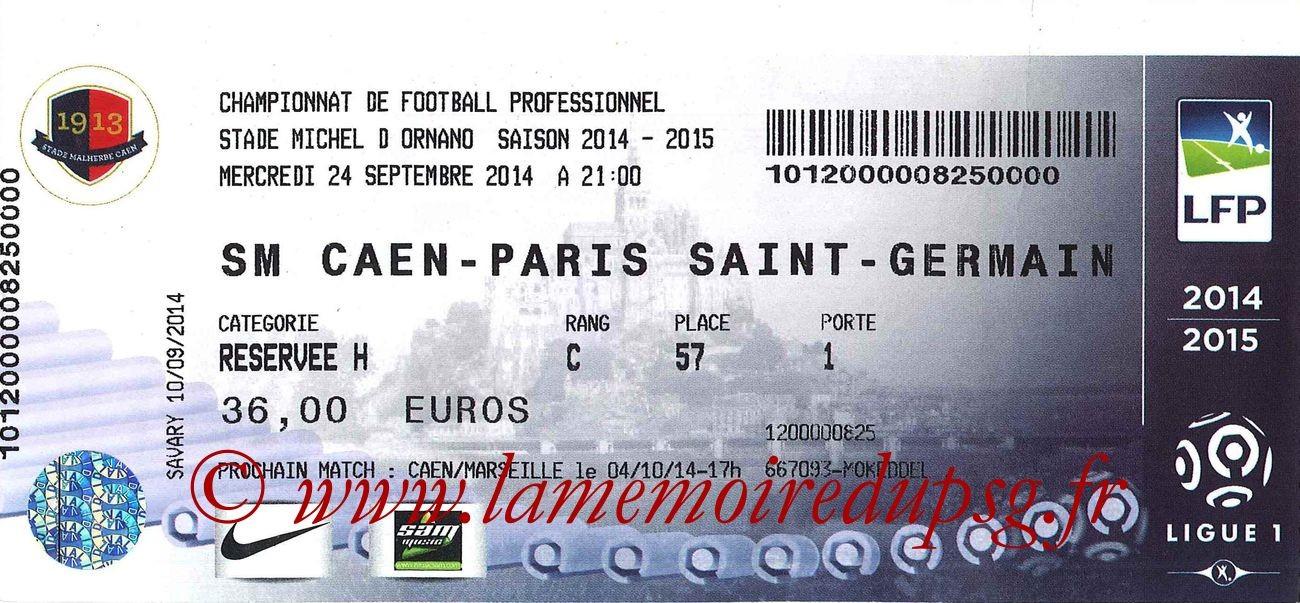 2014-09-24  Caen-PSG (7ème L1)