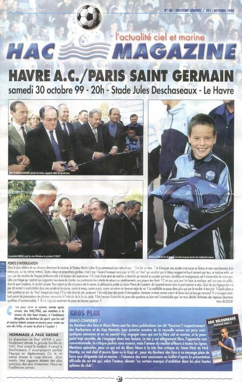 1999-10-30  Le Havre (13ème D1, HAC Magazine N°60)