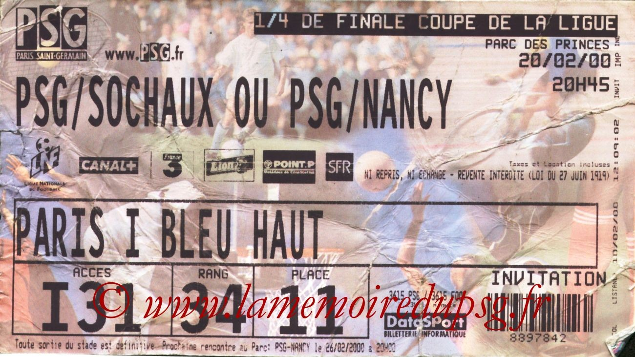 2000-02-20  PSG-Nancy (Quart Finale CF)
