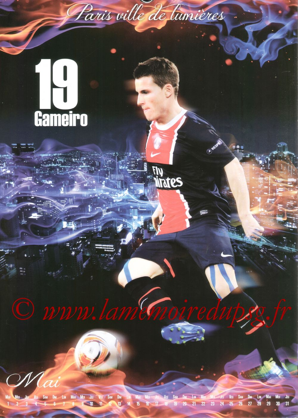 Calendrier PSG 2012bis - Page 05 -Kévin GAMEIRO