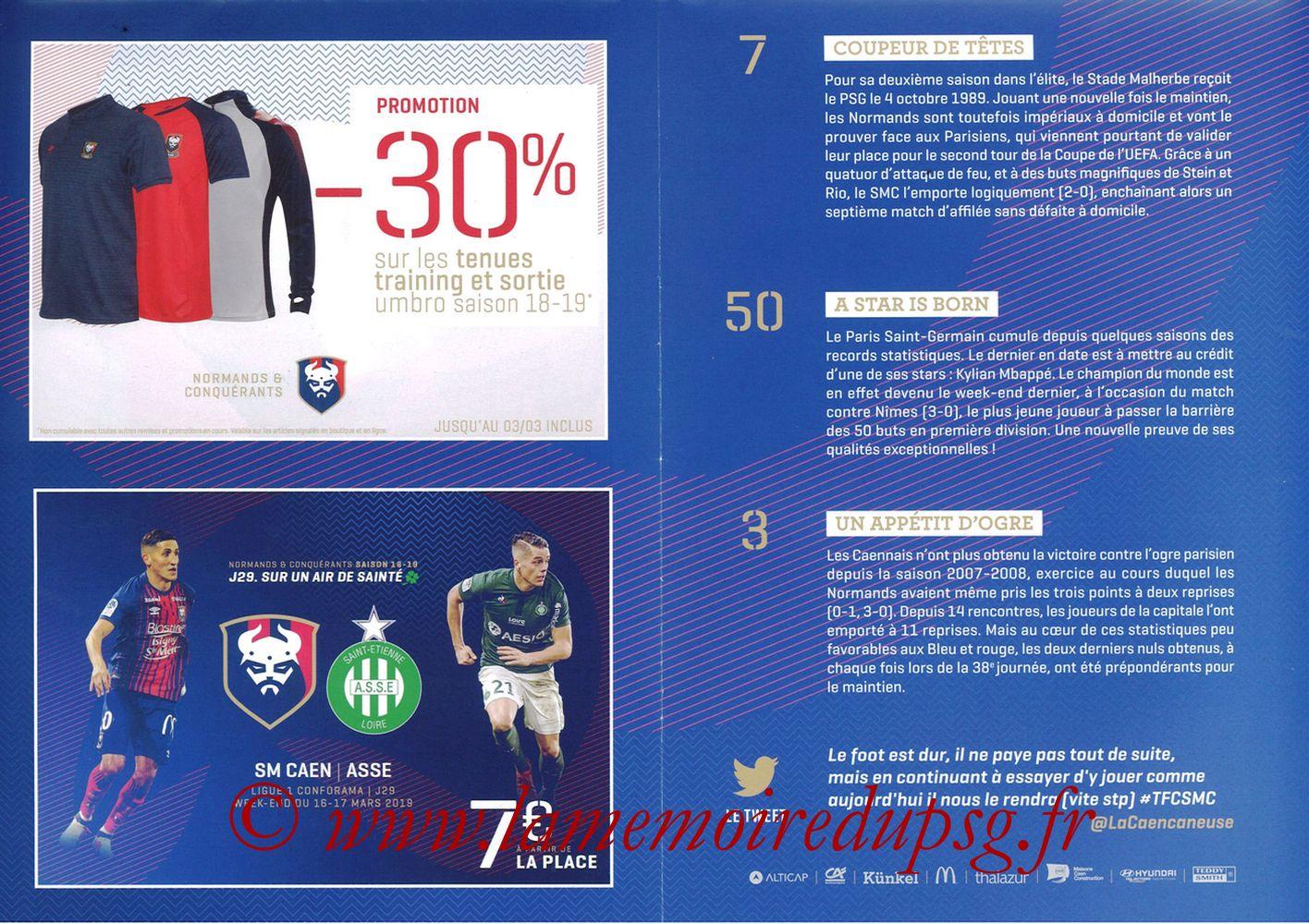 2019-03-02  Caen-PSG (27ème L1, Programme officiel) - Pages 06 et 07