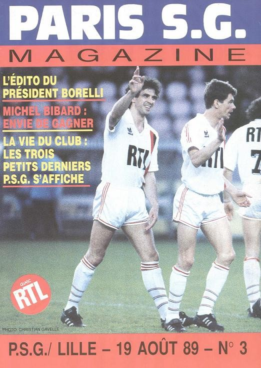 1989-08-19  PSG-Lille (6ème D1, Paris SG Magazine N°3)
