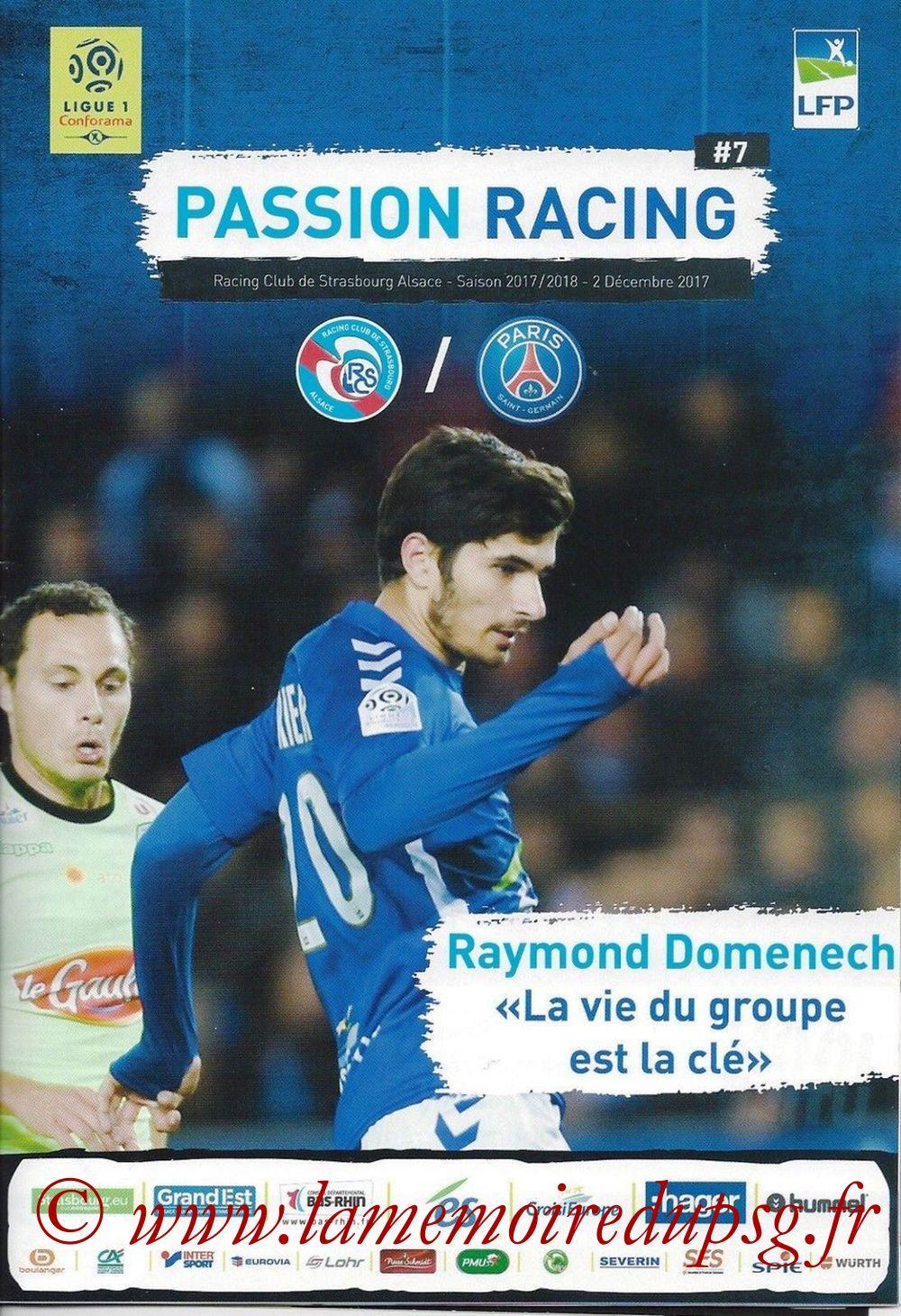 2017-12-02  Strasbourg-PSG (16ème L1, Passion Racing N°7)