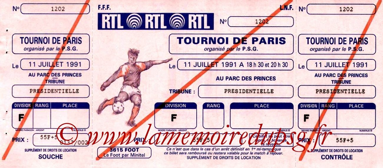 1991-07-11  PSG-Sporting Lisbonne (Match 3ème place Tournoi de Paris)