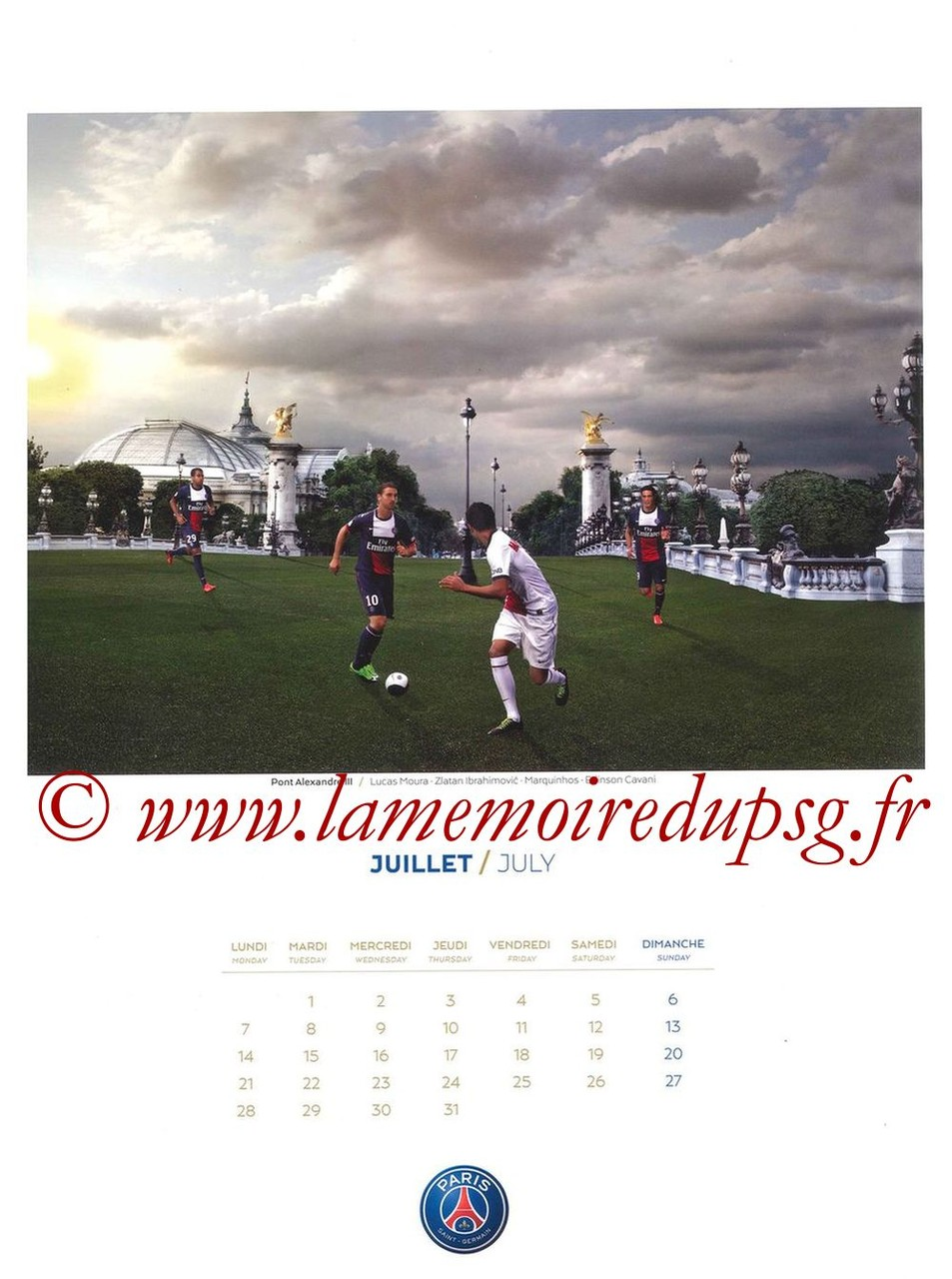 Calendrier PSG 2014 - Page 07 - Pont Alexandre III