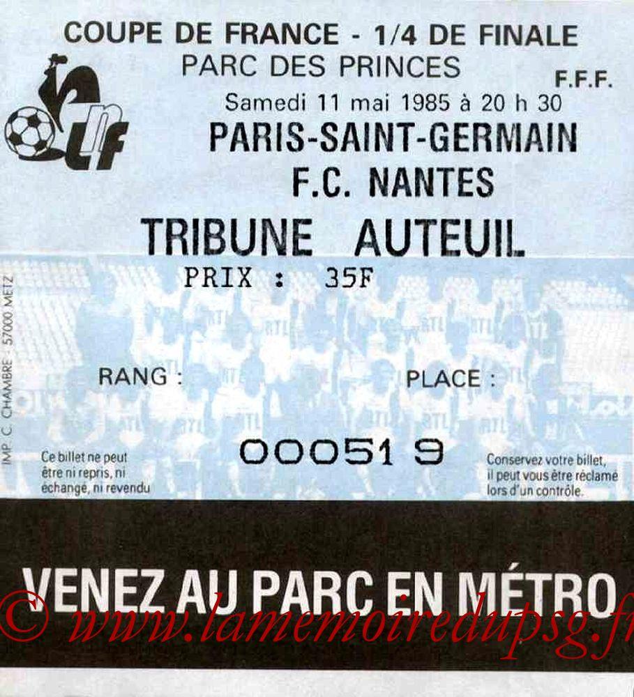 1985-05-11  PSG-Nantes  (Quart Finale Aller CF)