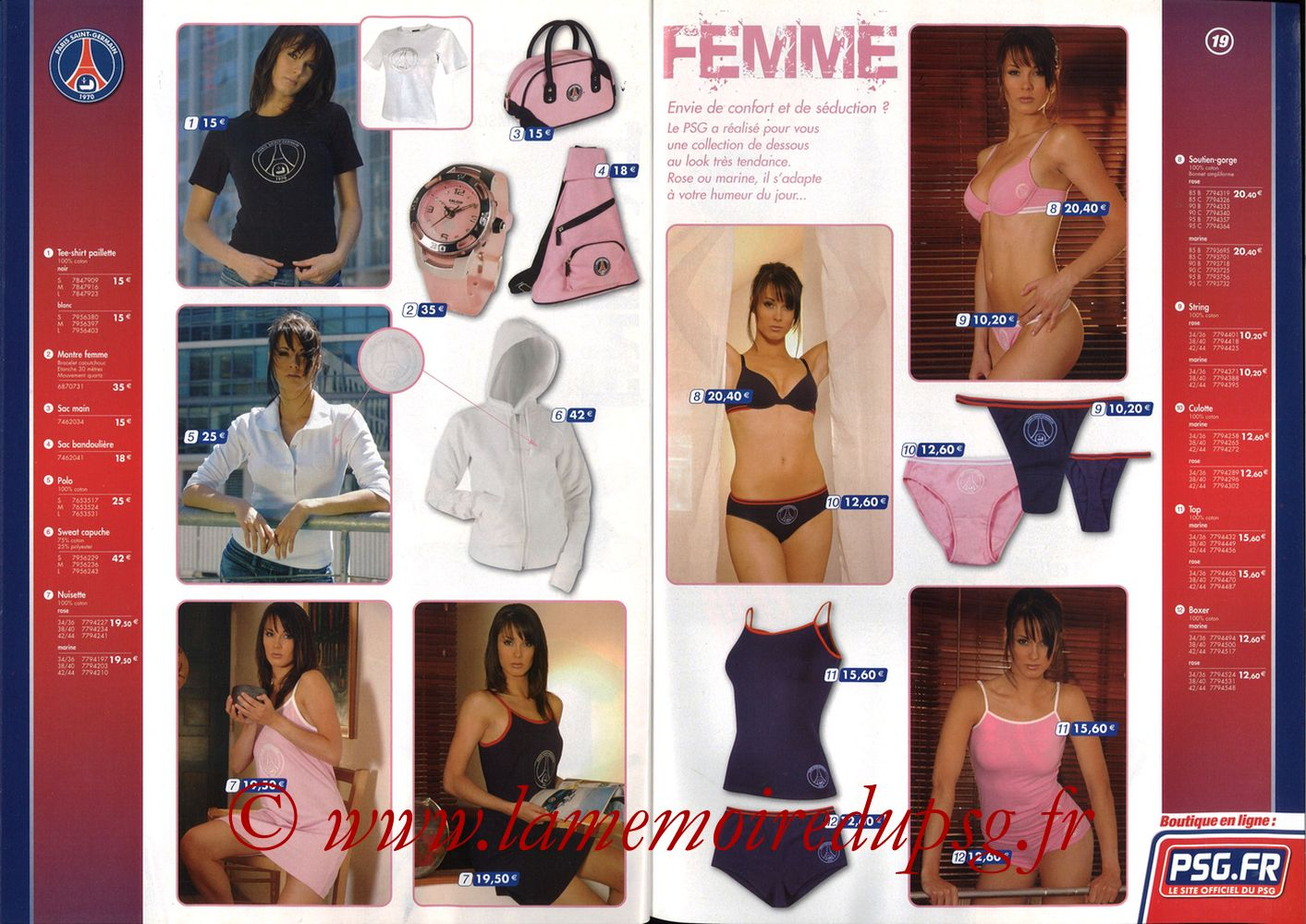 Catalogue PSG - 2005-06 - Pages 18 et 19