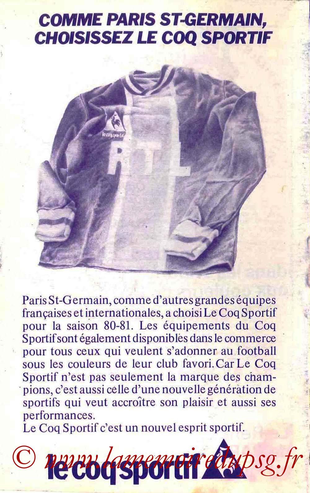1980-81 - Guide de la Saison PSG - Page 16