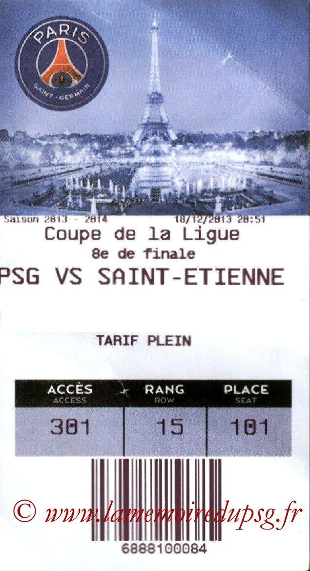 2013-12-18  PSG-Saint-Etienne (16ème Finale CL, E-Ticket)