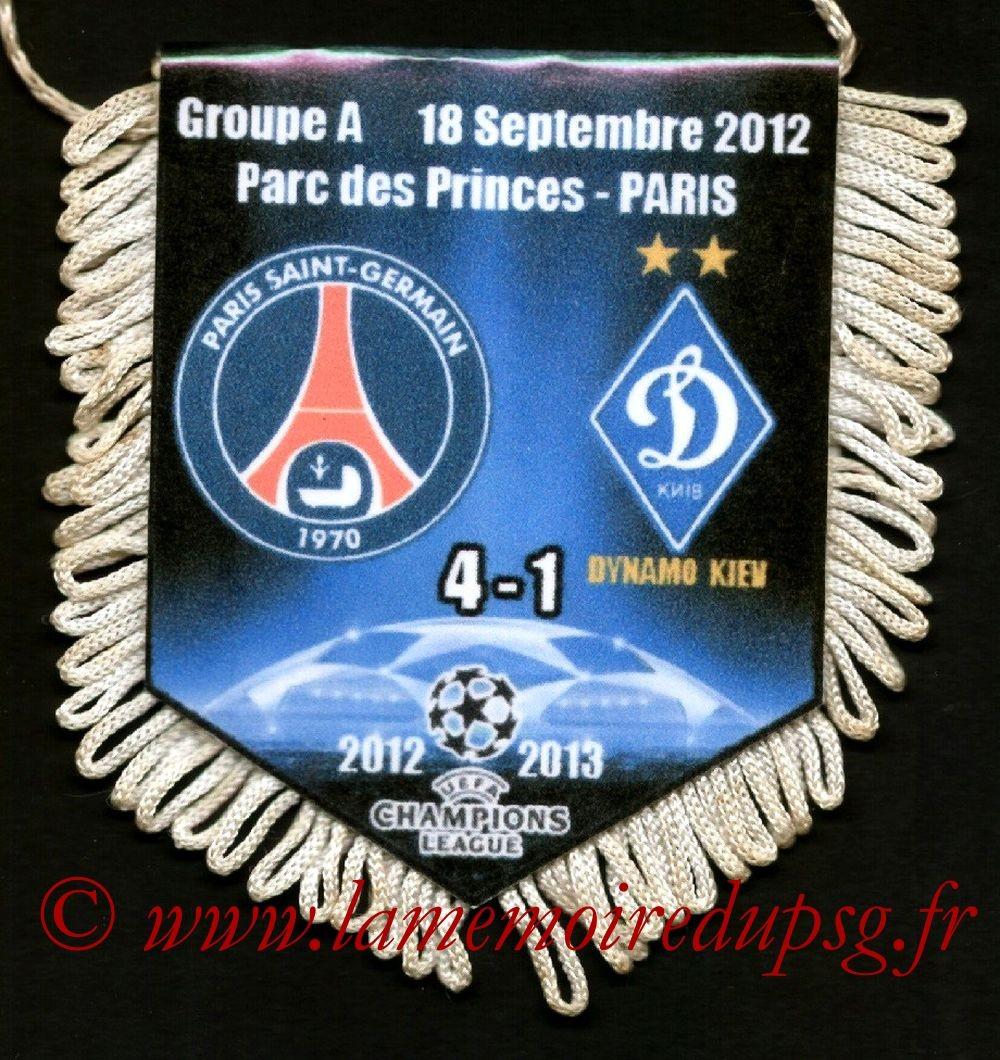 2012-09-18  PSG-Dynamo Kiev (1ère Poule C1)