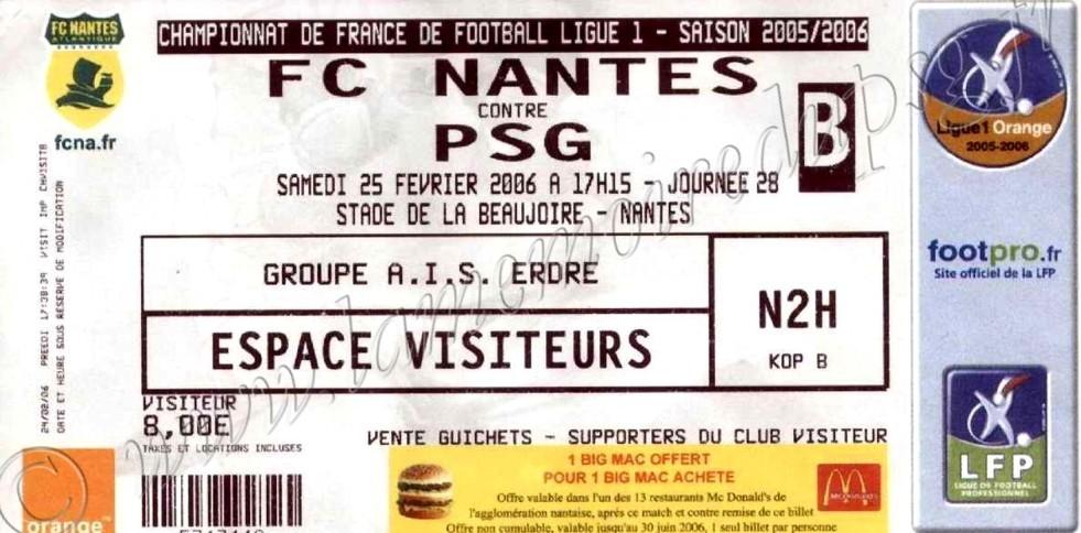 2006-02-25  Nantes-PSG (28ème L1)