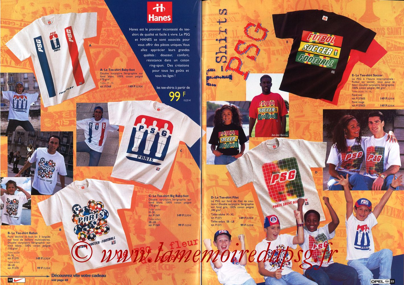 Catalogue PSG - 1998-99 - Pages 32 et 33