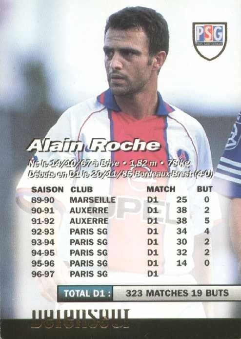 N° 171 - Alain ROCHE (Verso)