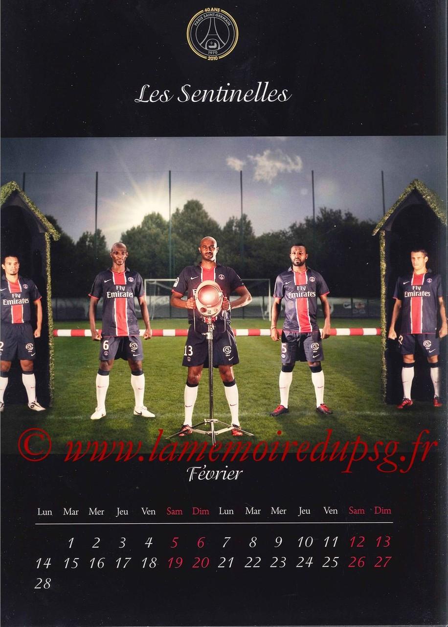 Calendrier PSG 2011 - Page 03 - Les Sentinelles