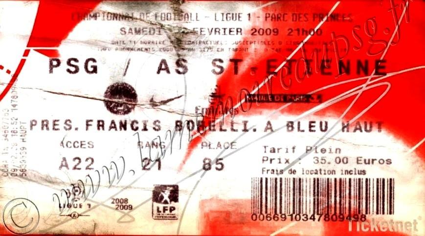 2009-02-14  PSG-Saint Etienne (24ème L1, Ticketnet)