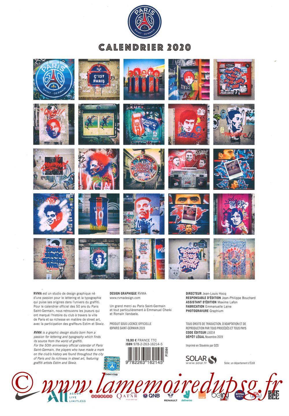 Calendrier PSG 2020 - Page 25 - Dos Album