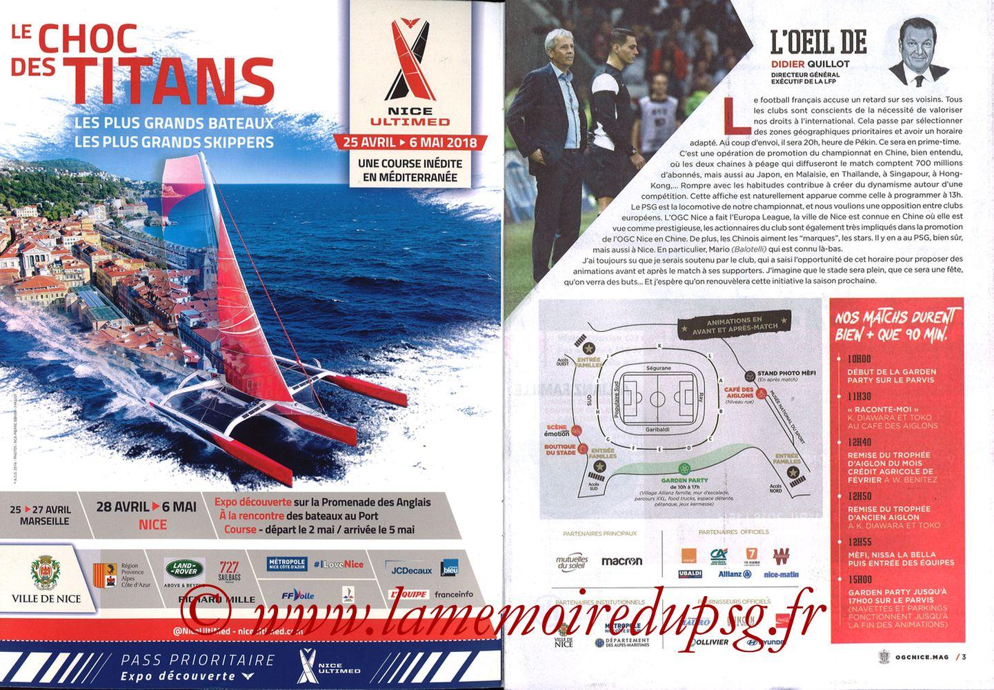 2018-03-18  Nice-PSG (30ème L1, OGC Nice Mag N°306) - Pages 02 et 03