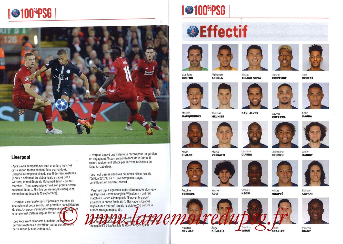 2018-11-28  PSG-Liverpool (5ème Poule C1, 100% PSG N° 172) - Pages 08 et 09