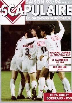 1993-07-24  Bordeaux-PSG (1ère D1, Le Scapulaire N°1)