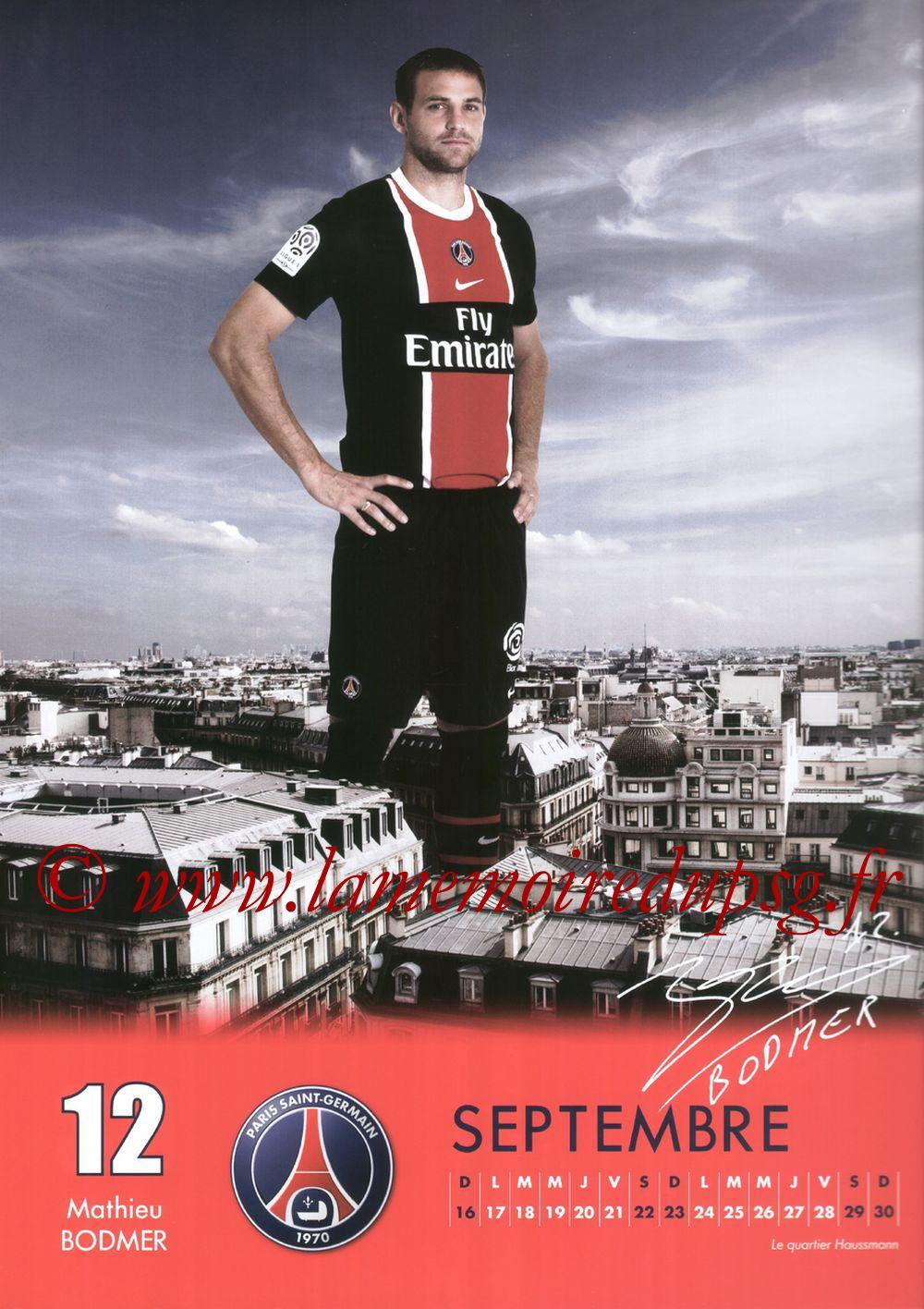 Calendrier PSG 2012 - Page 18 - Mathieu BODMER