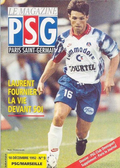 1992-12-18  PSG-Marseille (19ème D1, Le Magazine PSG N°9)