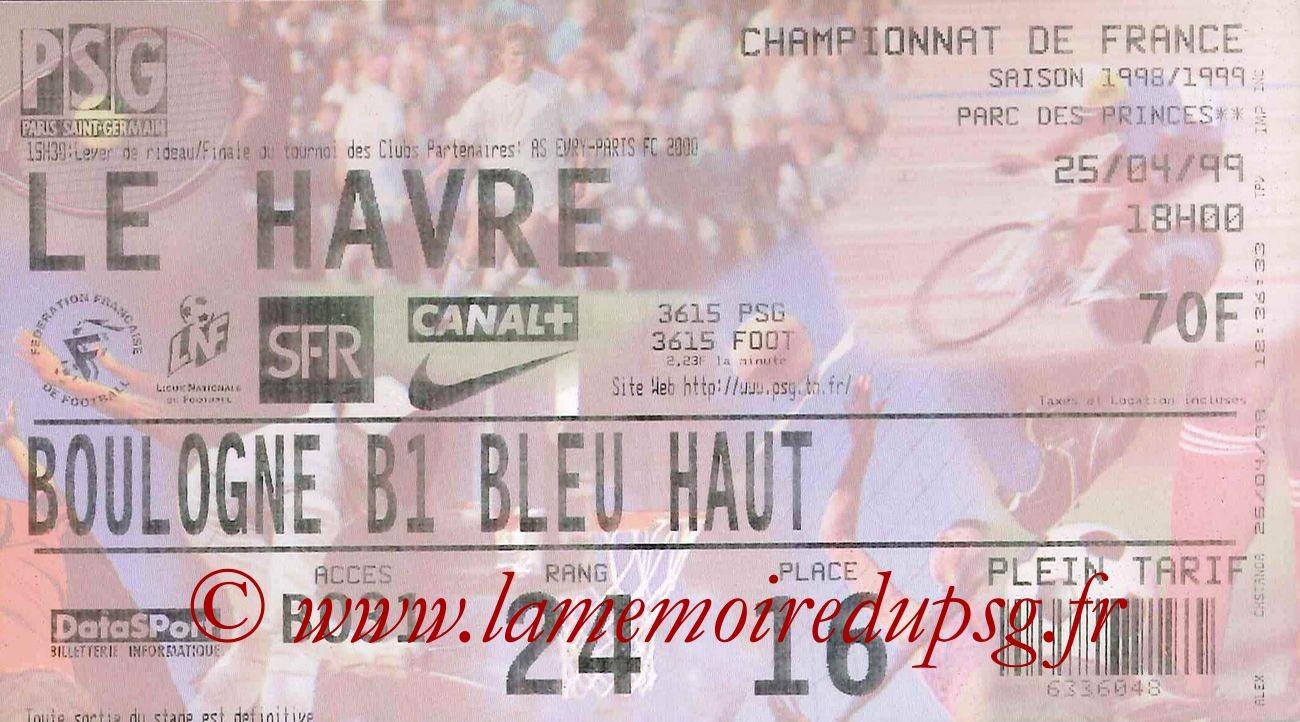 1999-04-25  PSG-Le Havre (30ème D1)