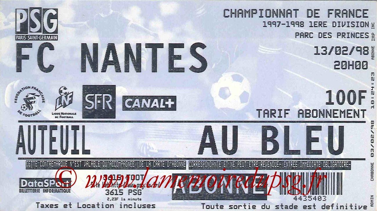1998-02-13  PSG-Nantes (26ème D1)