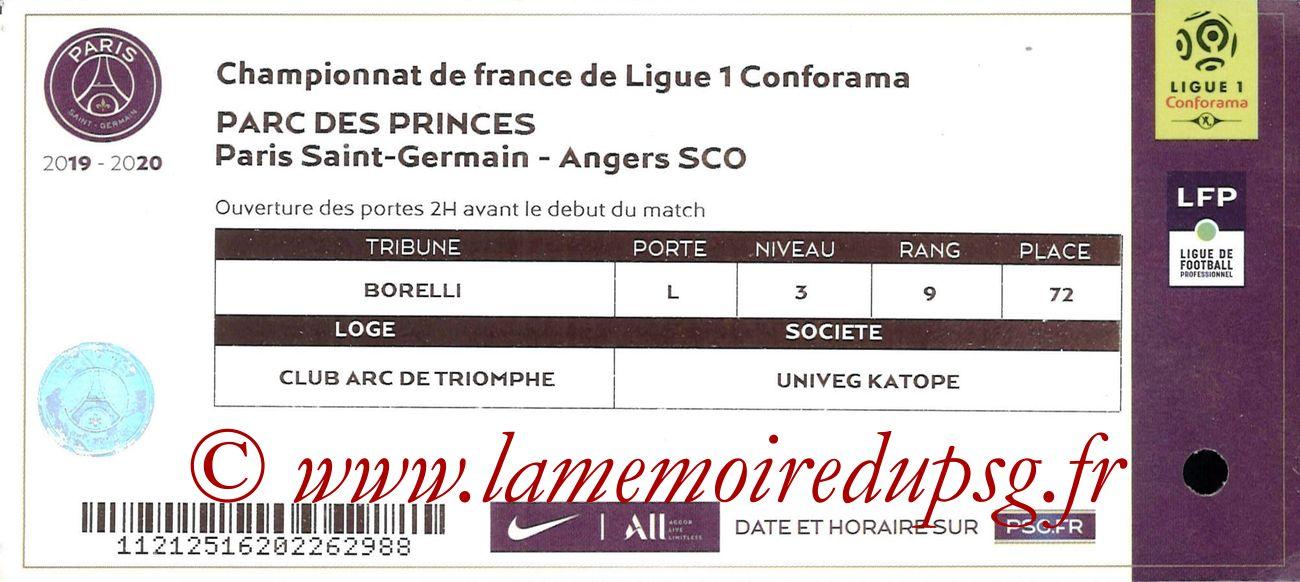 2019-10-05  PSG-Angers (9ème L1, Ticket VIP)