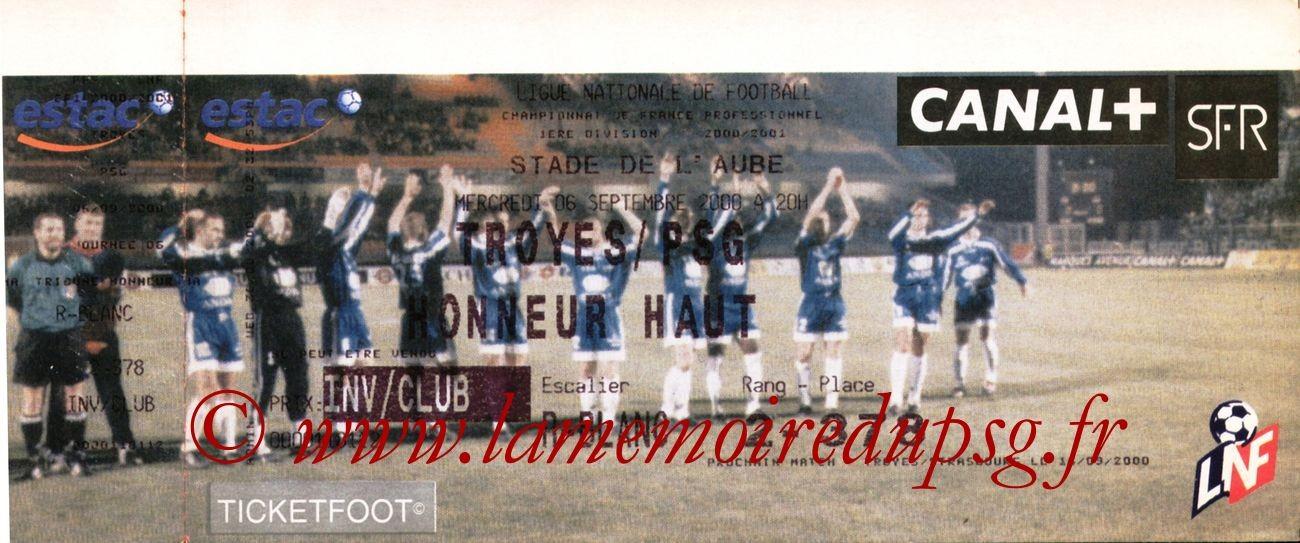 2000-09-06  Troyes-PSG (6ème D1)