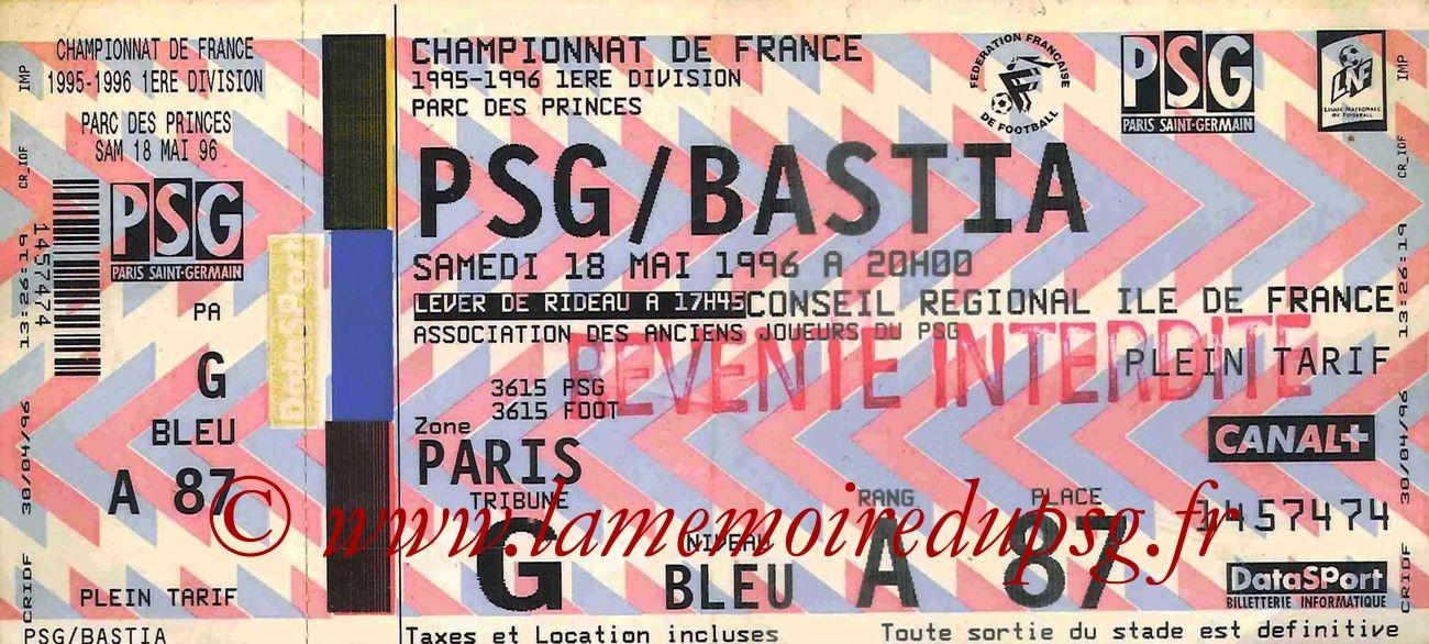 1996-05-18  PSG-Bastia (38ème D1)