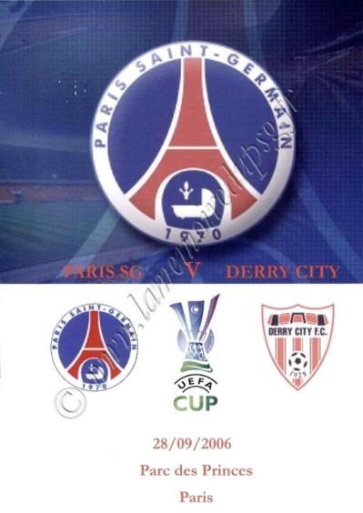2006-09-28  PSG-Derry City (64ème Retour UEFA, Programme pirate 1)