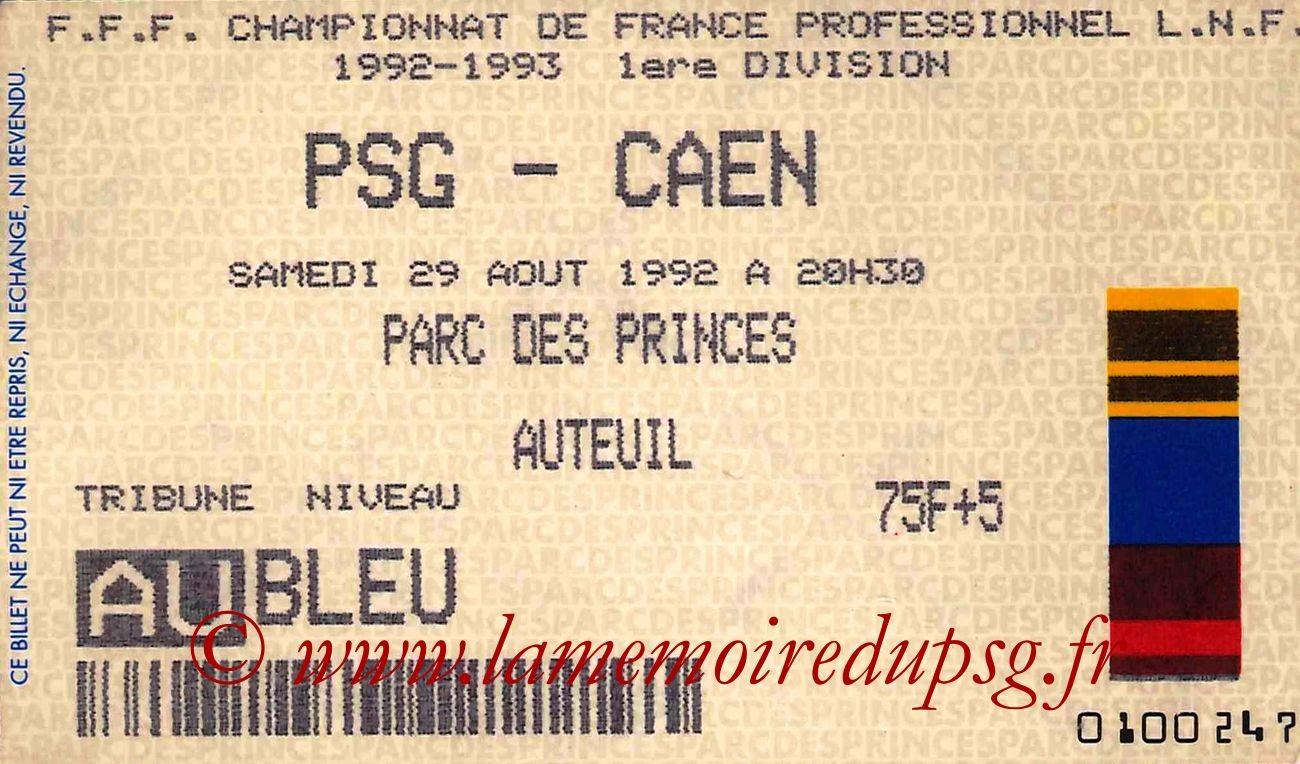 1992-08-29  PSG-Caen (4ème D1)