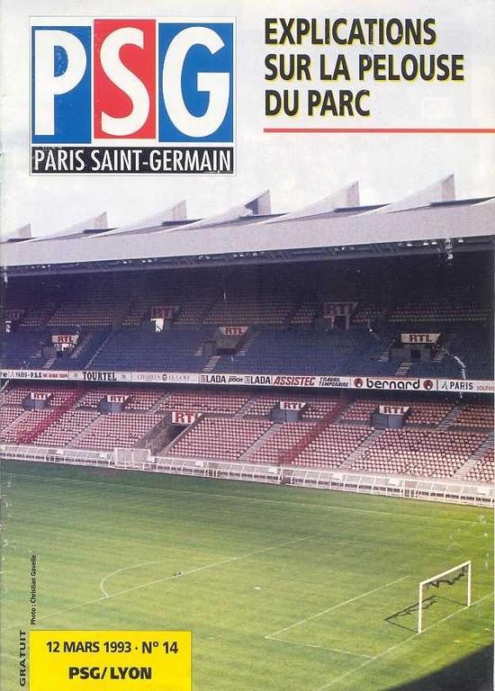 1993-03-12  PSG-Lyon (28ème D1, Le Magazine PSG N°14)