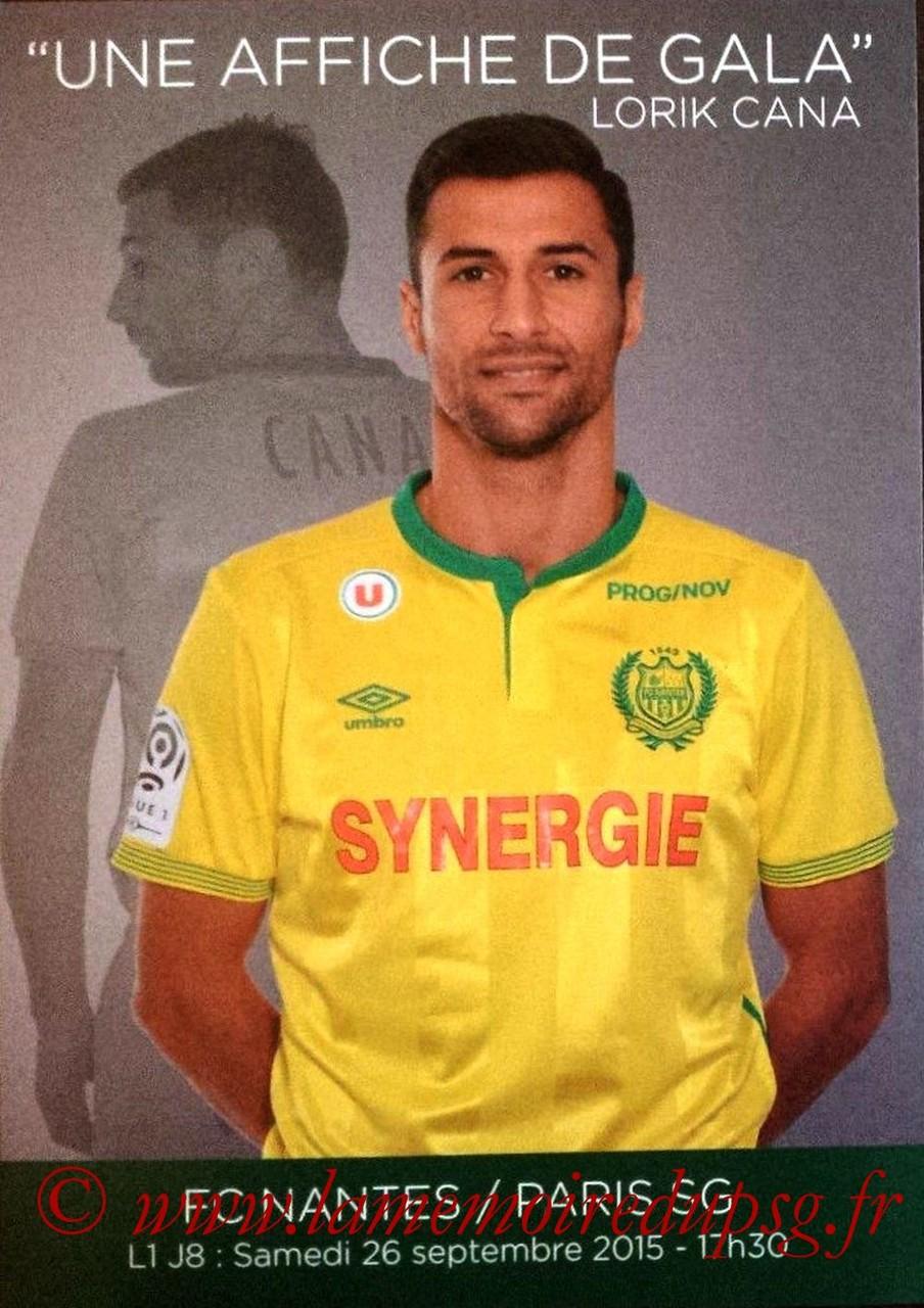 2015-09-26  Nantes-PSG (8ème L1, Feuille officielle)
